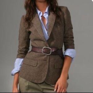 BB Dakota Douglas 3/4 Sleeve Tweed Fitted Blazer